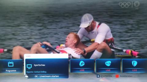 Olympia-Streams auf TV-Gerät gucken