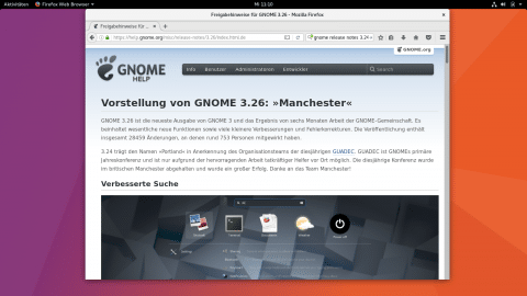 Gnome 3.26 unter Ubuntu 17.10