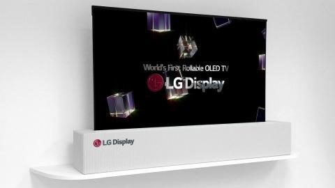Rollbarer OLED-Fernseher von LG Display