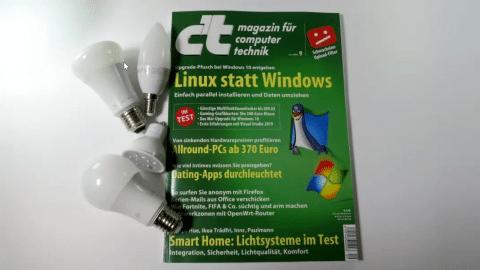 c't 9/2019 - Der Blick ins Heft mit Sicher Surfen, smarten Leuchten und Linux statt Windows