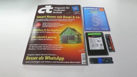 c't 11/2019 - Der Blick ins Heft mit Raspi-Basteleien, SSDs, Messenger und Kopfhörer