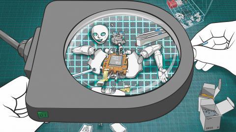 Mikro- und Nanoroboter räumen auf
