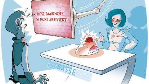 Geldscheine der Zukunft