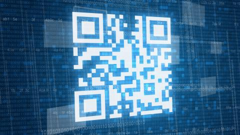 Qr,Code,On,Digital,Background