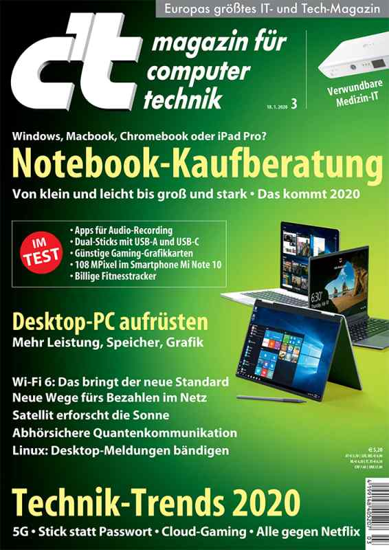 c't Ausgabe 03/2020