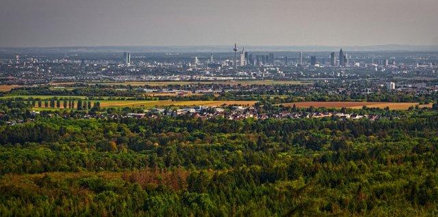 Blick auf Frankfurt von Ronny Kahl