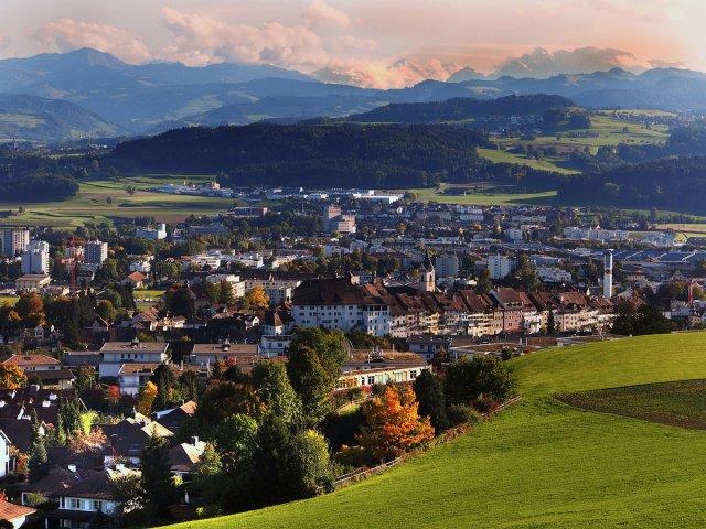 Von der Stadt zu den Alpen von Alberts-Fotografie