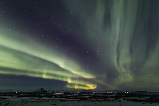 Nordlicht (Aurora borealis) III von Pham Nuwem