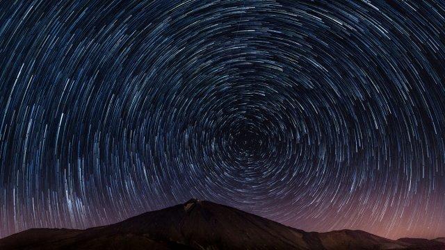 Star trails am Teide von lewski