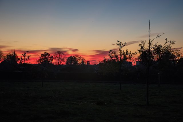 herbstlicher Abendhimmel von Schorsch1953