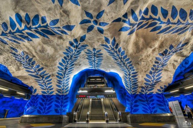 Subwaystation of Stockholm von Dyba