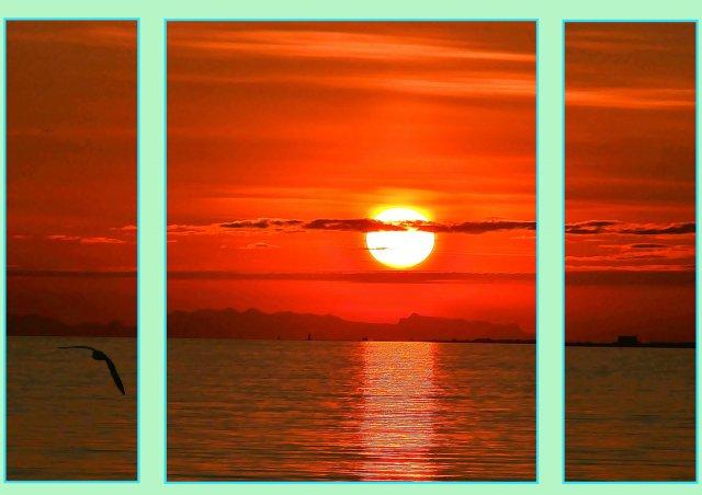 Mitternacht im Hafen von Reykjavik   (GI-Triptychon) von RüdigerLinse