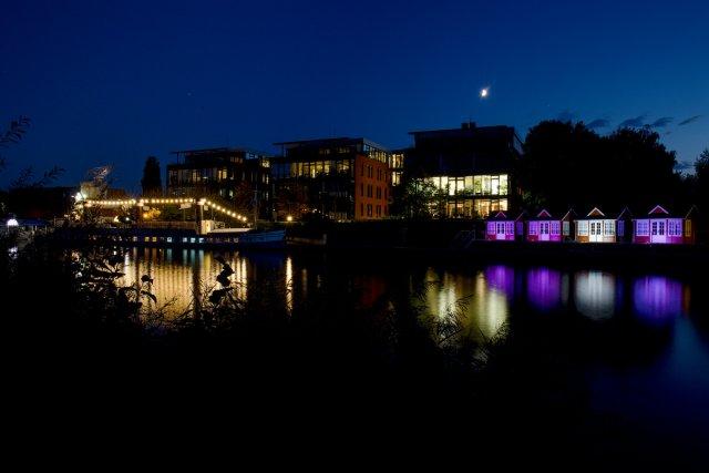 Yachthafen bei Nacht (Hannover) von Himme