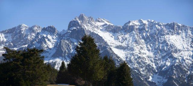 Alpen, Panorama von Dirijabl