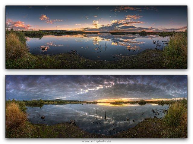 same sky but different clouds... Die Rücklichter des Sommers. von Kai Hormann