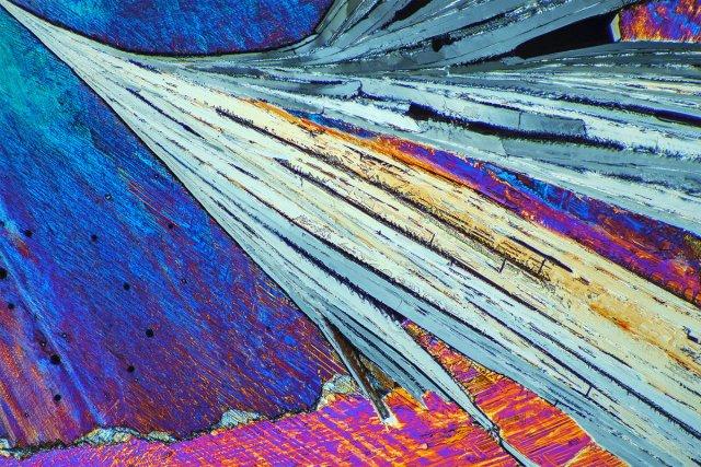 Natriumhydrogensulfat im polarisierten Licht 120:1 B2 von Microphot