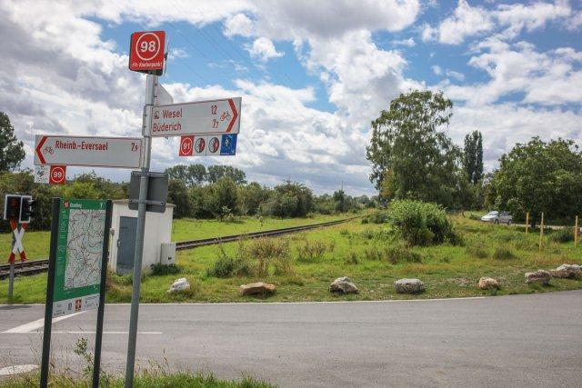 Radwege am Rheindeich bei Ossenberg von Roland Beyer