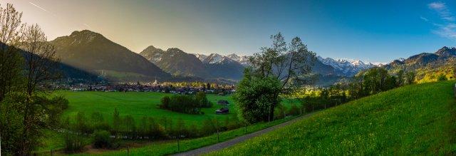 Panorama - Sonnenaufgang in Oberstdorf von Fotoblogger