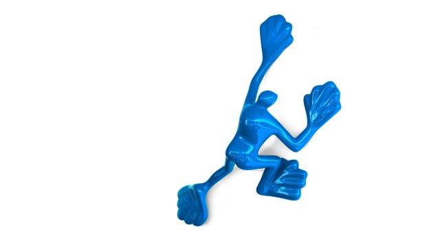 Blauer Kletterer von achimbitzer