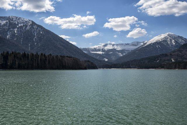 Bergsee von Dirijabl
