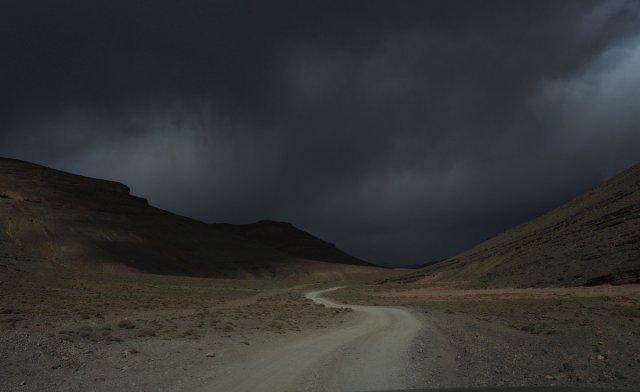 Unwetter auf dem Weg zur Dades Schlucht von Max Majorelle