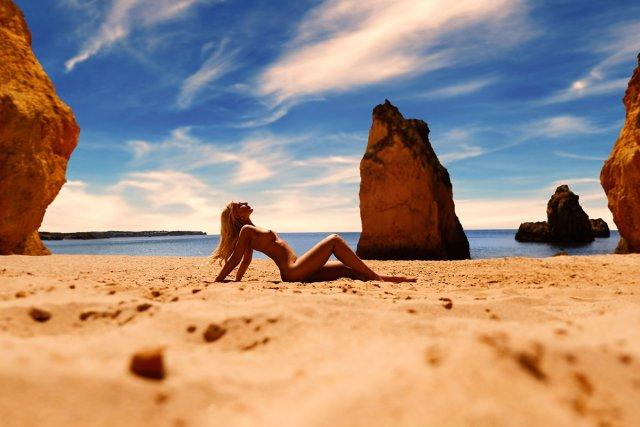 Fotoshooting an der Algarve (beach shooting) von Kristian Liebrand