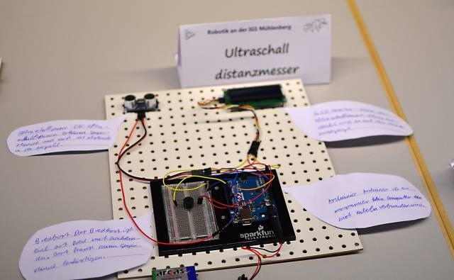Ultraschall Entfernungsmesser Schaltung : Ultraschall sensor make