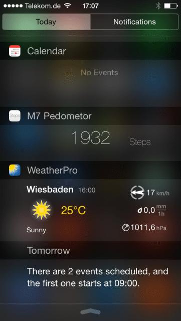 Neue Funktionen in iOS 8