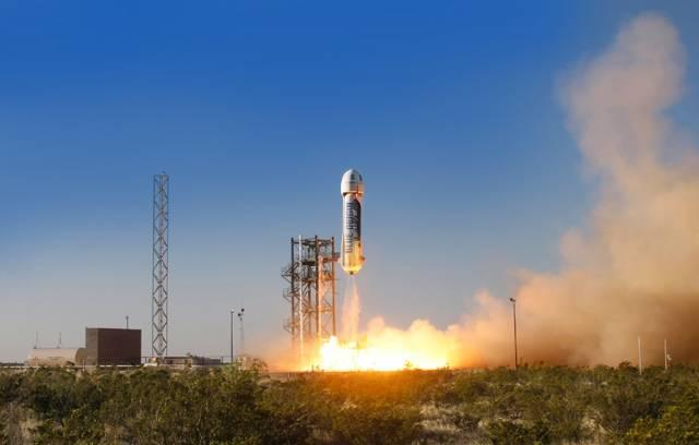 """Erster Testflug der """"New Shepard"""""""