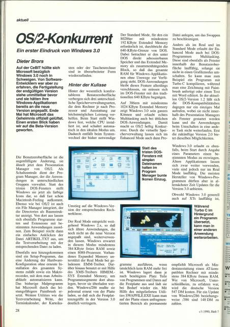 Windows 3.0 in der c't