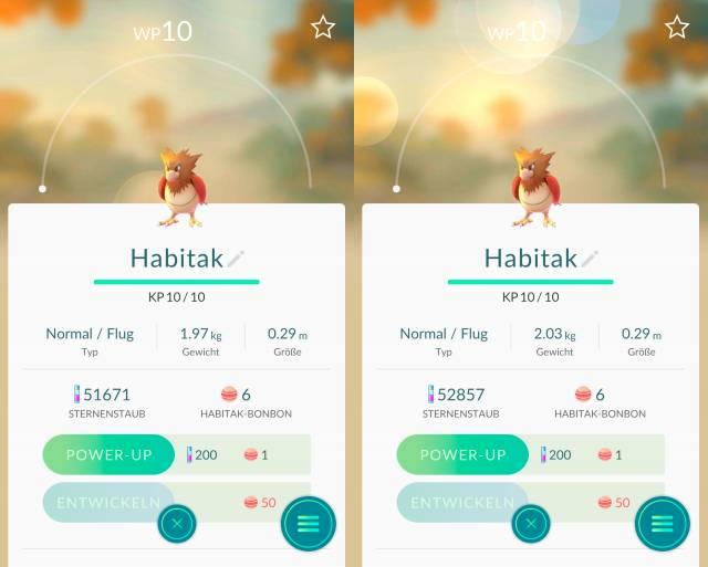 Pokémon Go: IV-Verfeinerung mit Bewertungen