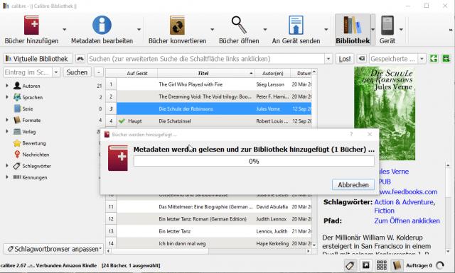 E-Books für Tolino und Kobo mit Calibre konvertieren