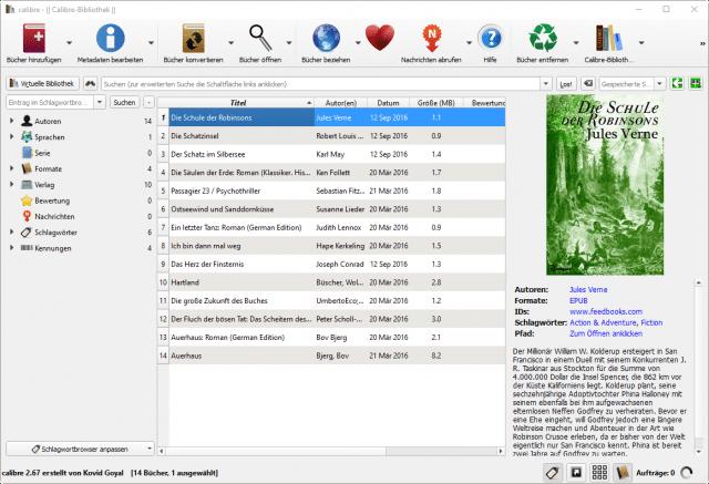 E-Books verwalten mit Calibre