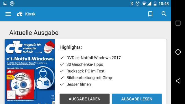 c't Magazin 3.0 (Beta) - Android App