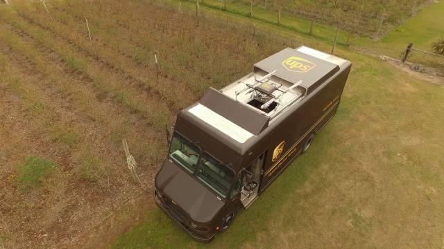 UPS mobile Drohnenplattform