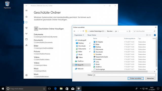 Windows 10 Fall Creators Update: Sicherheitsfunktionen