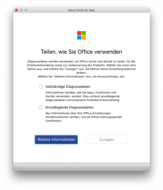 Office: Kein Opt-Out für Diagnosedaten
