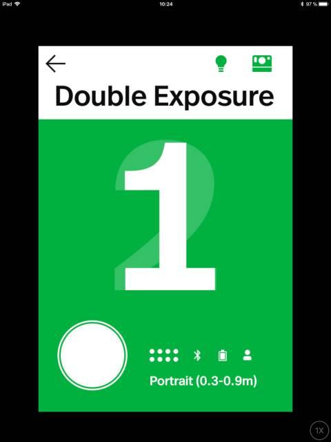 Doppelbelichtung in der Polaroid-App zur OneStep+