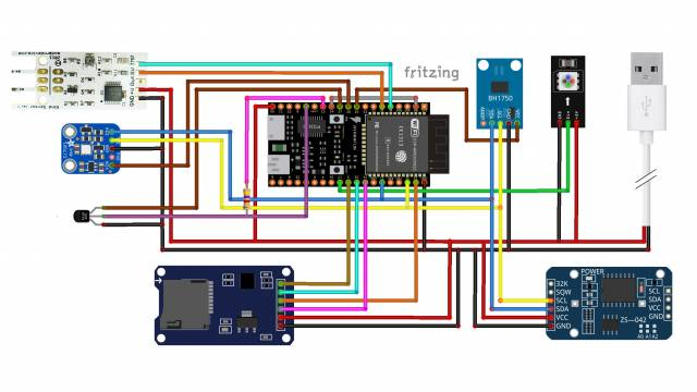 Fritzing-Schaltplan der CoMoS-Sensorstation.