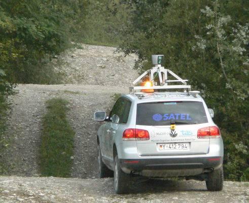 Die Hügel waren für MuCAR kein großes Problem, mehr Schwierigkeiten bereitete die Software des autonomen Fahrzeugs.