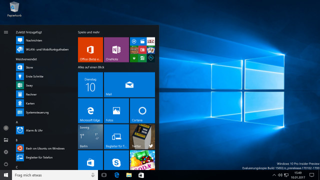 Windows 10 Preview-Build 15002