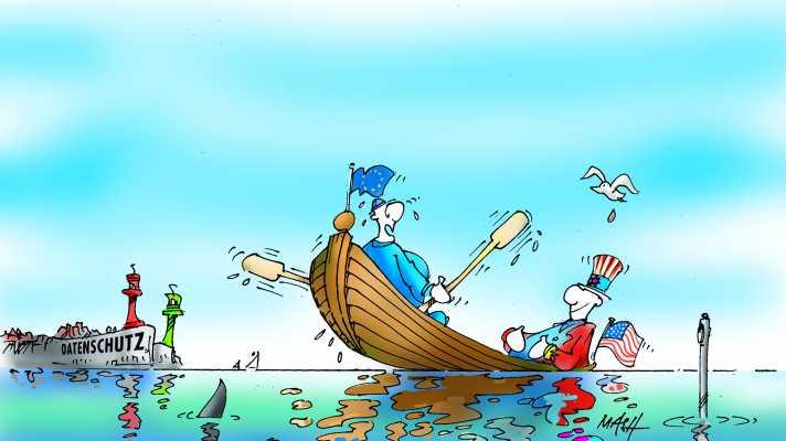 Illustration kenterndes Boot
