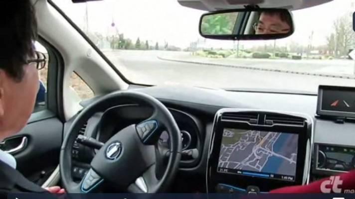 Testfahrt im hochautomatisierten Leaf