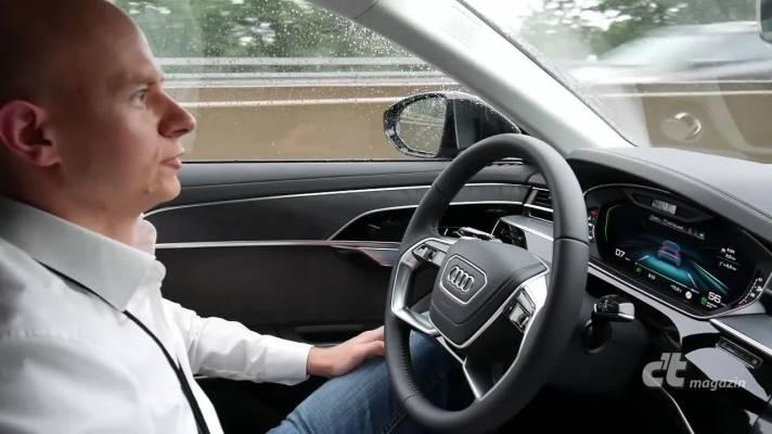 Audi A8 mit AI: Testfahrt mit hochautomatisiertem Stau-Pilot