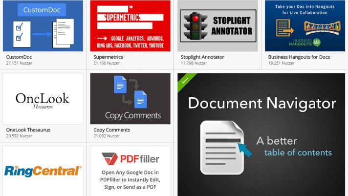 Die besten Add-ons für Google Docs und Google Tabellen