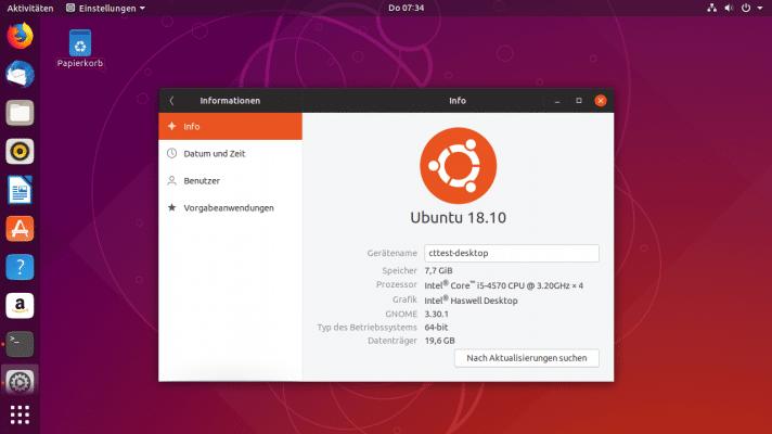 Ubuntu 18.10: Neues Erscheinungsbild und weitere Abkehr vom 32-Bit-x86