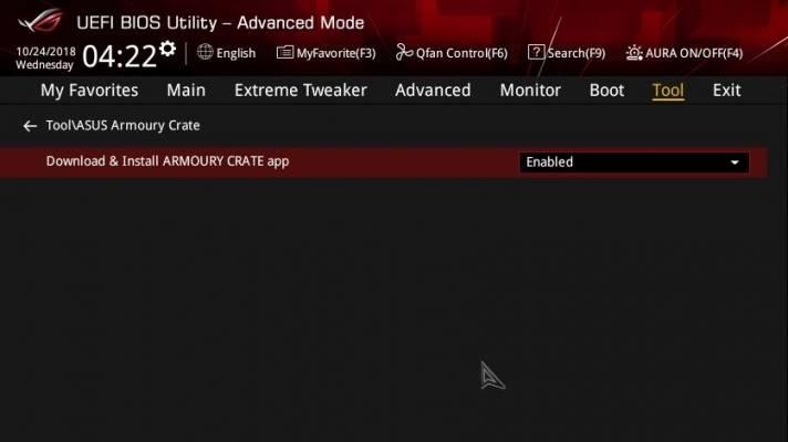 Asus Armoury Crate lässt sich im BIOS-Setup abschalten