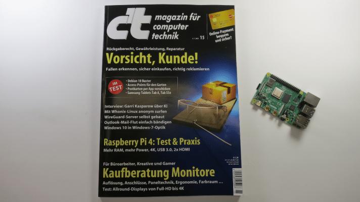 c't 15/2019 - Der Blick ins Heft mit Vorsicht Kunde, Raspi 4 und Allround-Displays