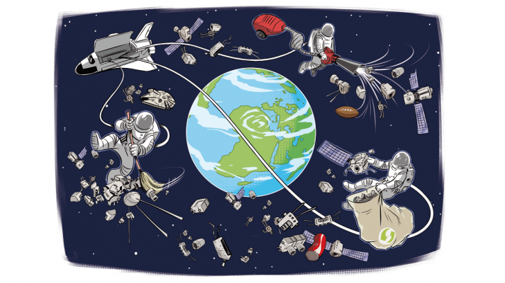 Wie Weltraummüll alle (be-)trifft