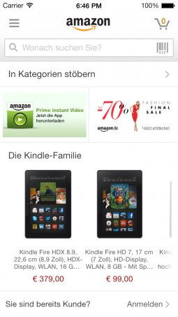 Amazon - App für iPhone, iPad und Android